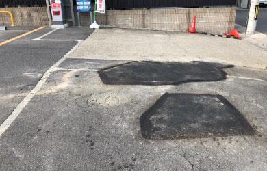 愛知県日進市 駐車場のアスファルト補修工事