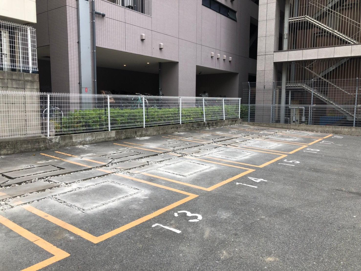 名古屋市中区 上前津駅付近 コインパーキング機器撤去工事