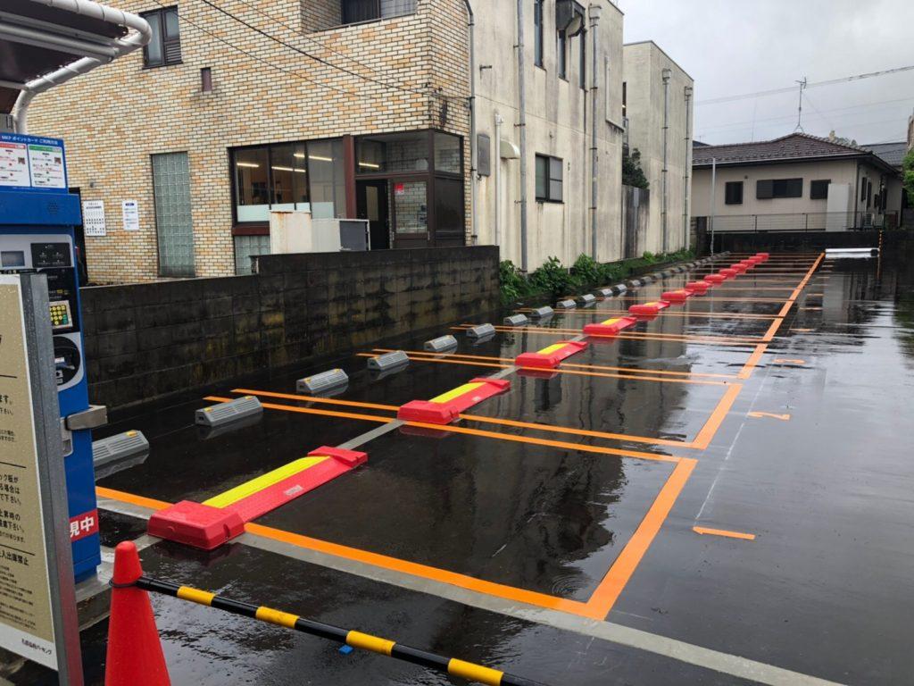 石川県金沢市 兼六園付近 コインパーキング機器設置工事