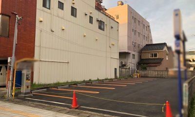 富山県富山市 秋水美術館付近 コインパーキング機器設置工事
